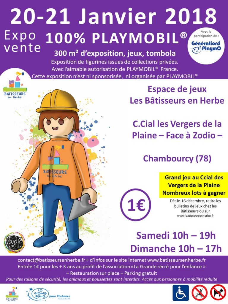 Exposition Playmobil Chambourcy | 20 - 21 janvier 2018